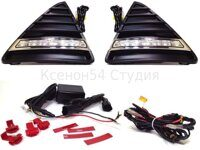 DRL- рамки ПТФ  PODEMOS for FORD FOCUS 3 (2012+)
